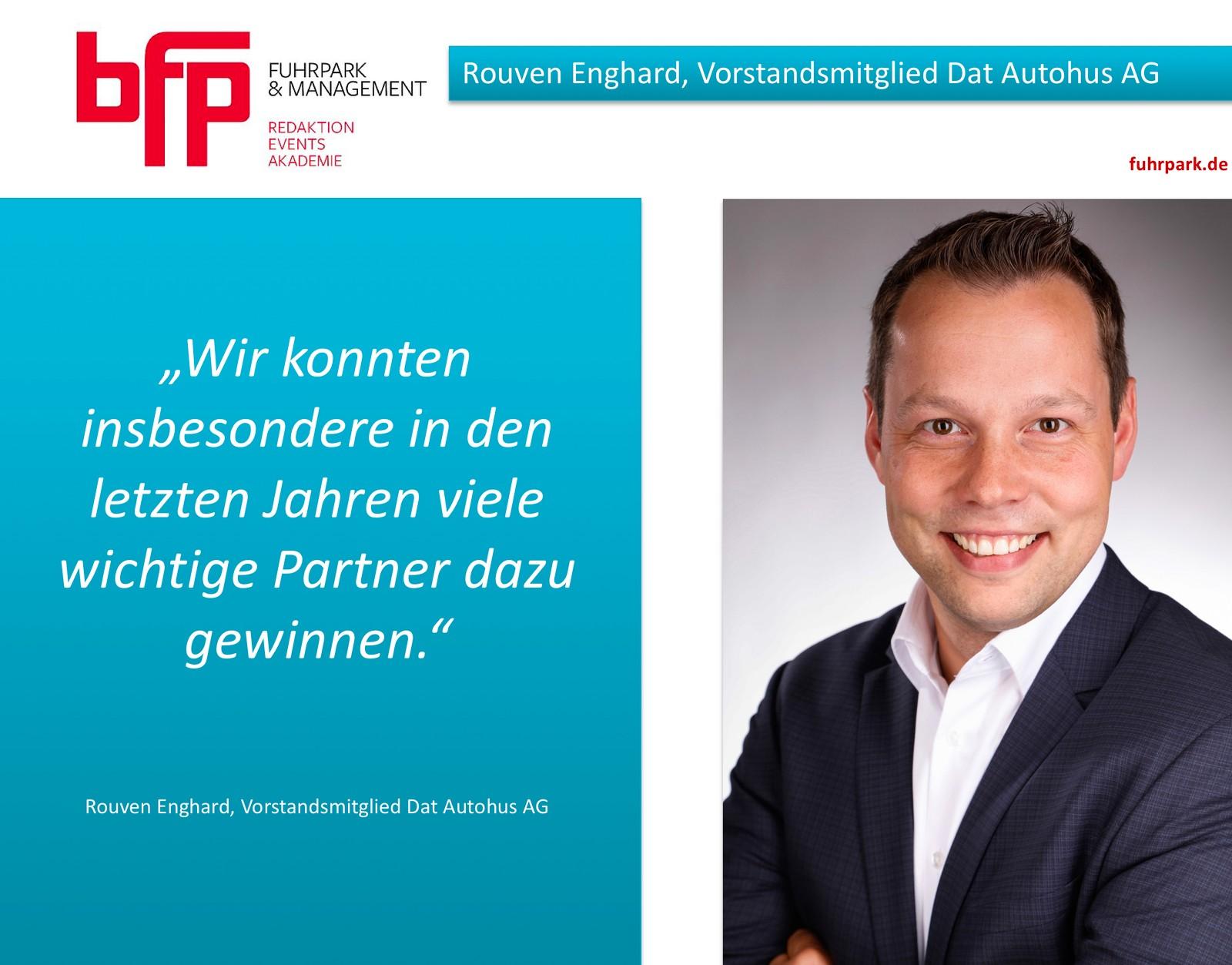 Dat Autohus Erweitert Seinen Vorstand Rouven Enghard Wird An Der