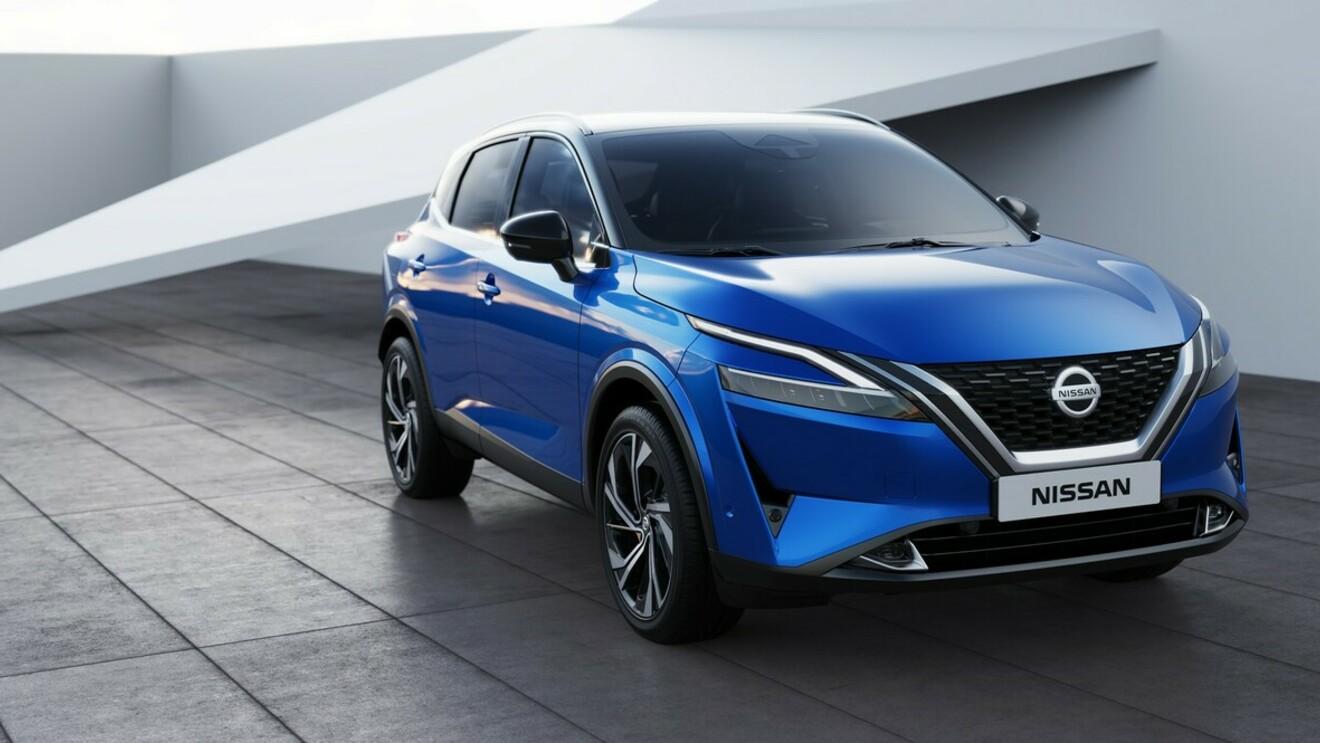 Fünf Varianten des Nissan Qashqai
